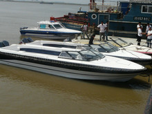 UF31 fiberglass 9.8m water taxi or open passenger boat