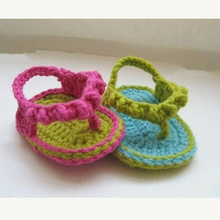 Factory direct OEM cotton yarn summer hand knitted baby sandals