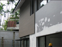 2015 hot sale waterproof,no-painting composite wood effect cladding