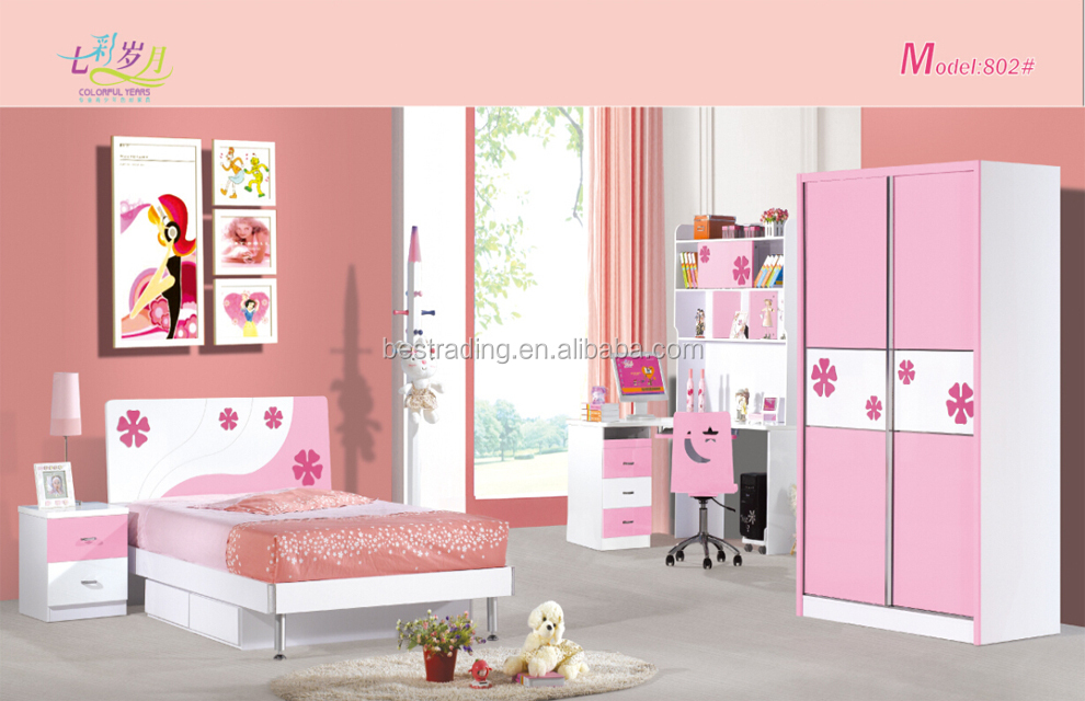cheap kids princess bed mdf board kids bedroom furniture