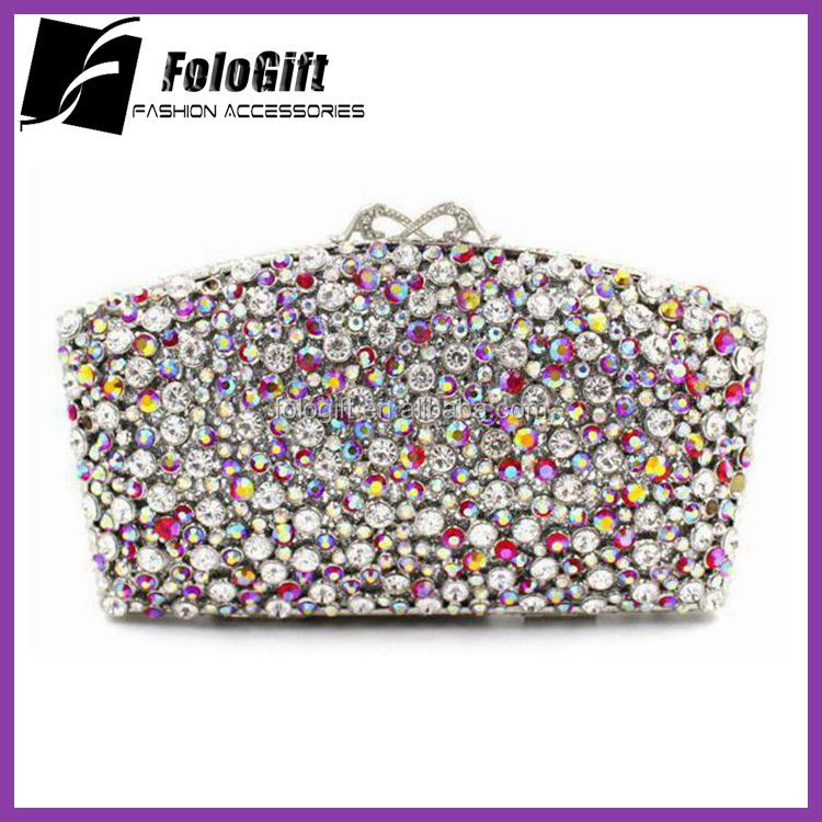 JD-<strong>A101</strong> Canvas Style Women Crystal Purse flower pattern party crystal clutch Wholesale Bags