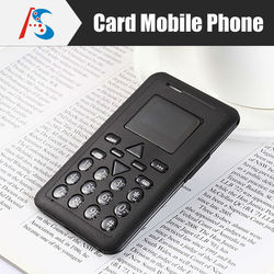 Black cool thin 6.5mm Ultra Thin AIEK V8 mobile pocket Card Phone mini Gift child basic mobile phone wholesale in stock