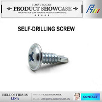 Drilling point twist shank wire nail phosphate / zinc plated self drilling screw