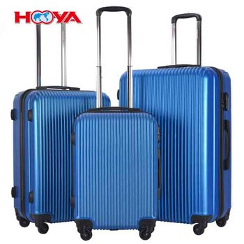 3 Pcs Carry On Lightweight Hardside Travelling Trolley Suitcase Luggage Set