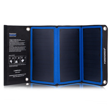 PowerGreen Portable Solar Panel Kit Charger 21W SUNPOWER Power Bank Charging Station for Mobile