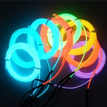 Flexible Neon Cold Car Vehicle Light Glow EL Wire with 12V Inverter