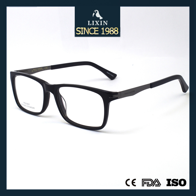 Fancy Acetate Eyeglass Optical Frames Metal Arm Combination Spectacle Frames RM30807