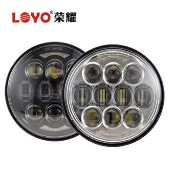 Loyo 80w 5 3/4 5.75 led motorcycle round headlight for Harley with high / low beam