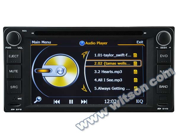 WITSON AUTO CAR DVD GPS NAVIGATION TOYOTA LAND CRUISER/AVANZA 2003-2010/FORTUNER 2005-2011/PRADO 1996-2009/RUNX WITH A8