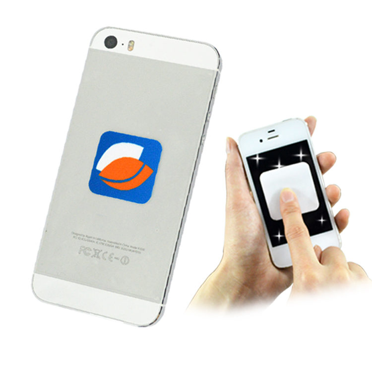 custom microfiber screen cleaner sticker for iphone