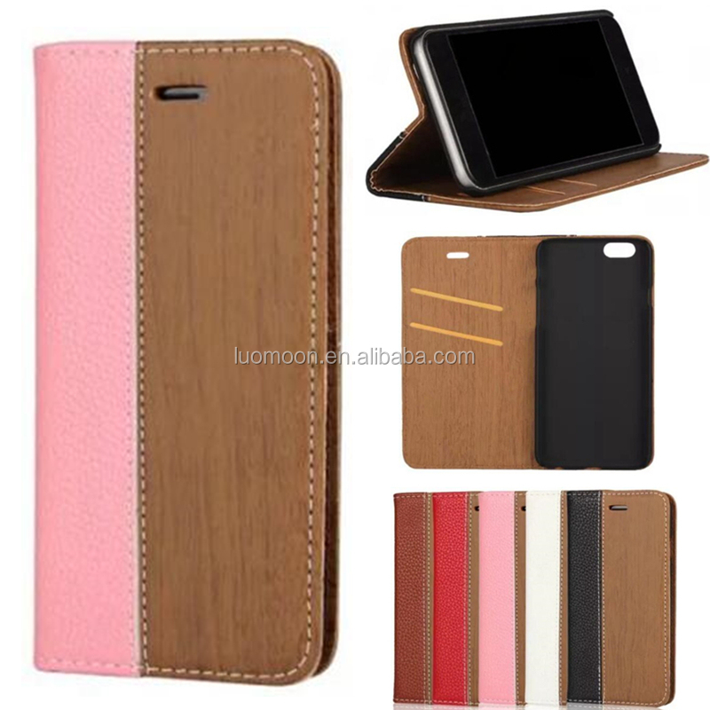 wood flip wallet stand leather phone case cover for Samsung Galaxy Note C S A J E ON edge mini plus 9 8 7 6 5 4 3 2 1