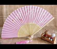 high quality bamboo hand fan with paper or silk