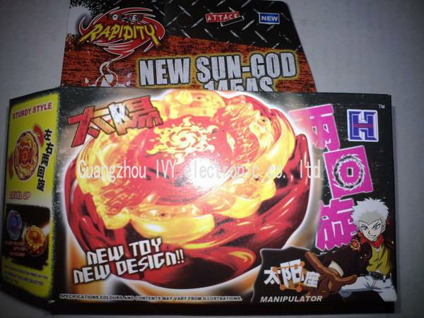 Beyblade super battle top,Beyblade Gold BBP03 Sun-God 145AS