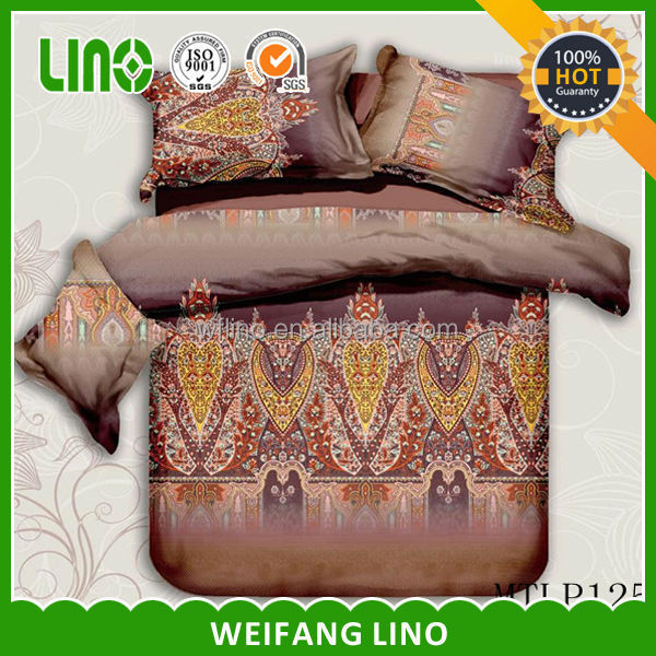 3d throw pillow cover/stocklot bed sheet/printed polyester fabric
