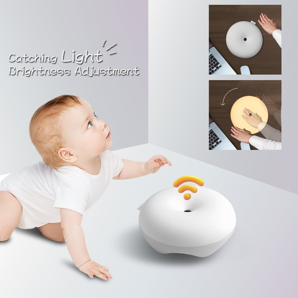 2017 New Night Light Changing Tap Control Battery Operated Baby Lamp