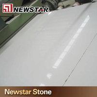 Artificial Calacatta engineered quartz stone sheet