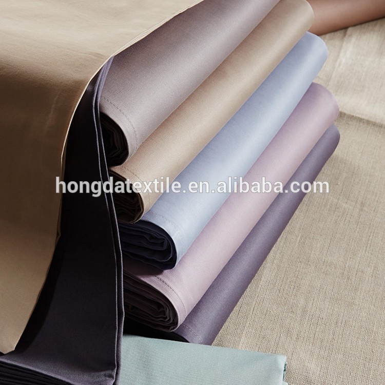 300-600TC Cotton Plain Sateen Bedsheets / Bed Sheets