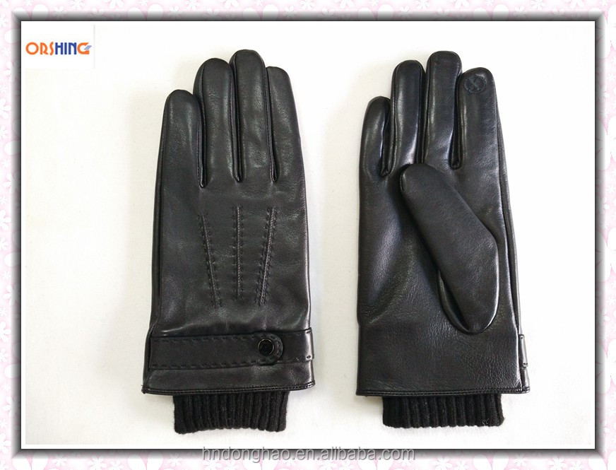 OEM Superior New Style Men Leather Touch Gloves