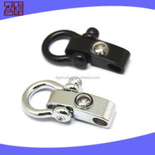 Fashion drop forged bow shackle,adjustable bow shackle for outdoor sports,survival bracelet shackle