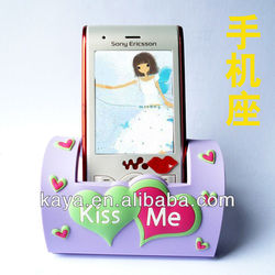 3D Plastic mobile phone holder/PVC mobile phone standard