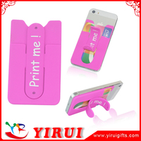 2016 new design silicone mobile phone wallet
