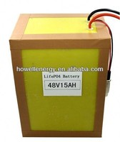 48 volt lithium battery pack /rechargeable lifepo4 battery pack /48v 10ah lifepo4 battery for car