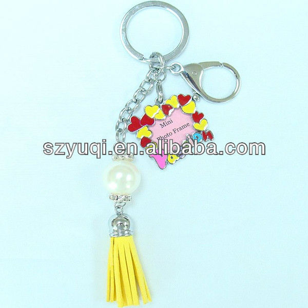 Digital photo frame metal key chain,heart key chains