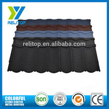 Classic type cheap colorful modern stone coated metal roofing tiles