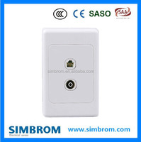 Australia TV socket dan TEL socket rj11 electrical wall socket New Zealand