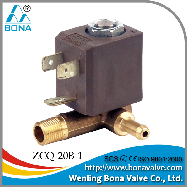 "1/4"" Brass hot water heater vertical steam boiler 42V 110V solenoid Valve ZCQ-01B-66"