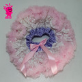 Wholesale fashion baby beautiful pink clothing pettiskirt with bow and lace flower