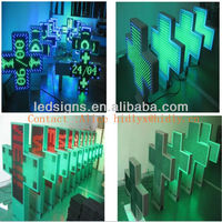P10 double sided screen LED pharmacy cross