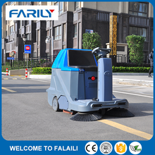 FE1100 double brush ride on street sweeper made in China