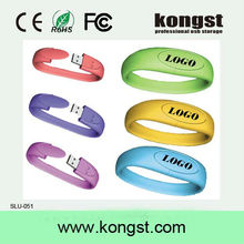 OEM Promotion Gift Bracelet PVC USB Flash Drives / Pendrives with lower price