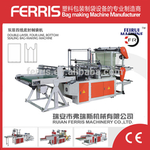 Manufacture plastic bag sealing machine with cutter