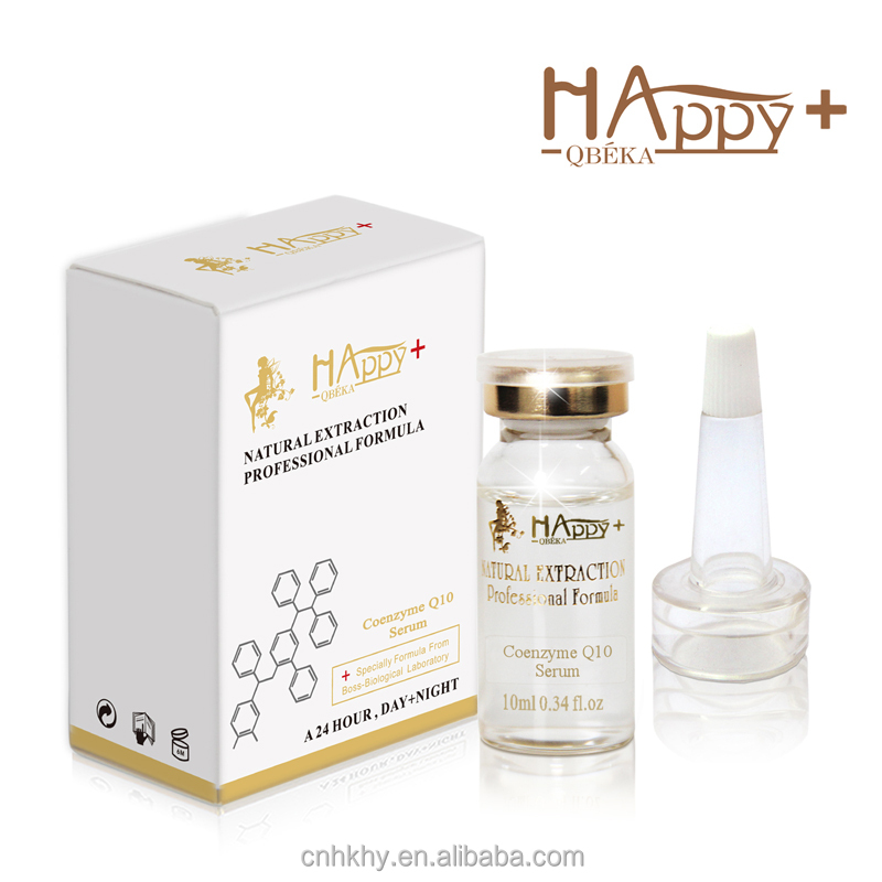 100% <strong>Powerfully</strong> anti-wrinkle anti-ageing Happy+ QBEKA anti aging serum private label anti-wrinkle serum