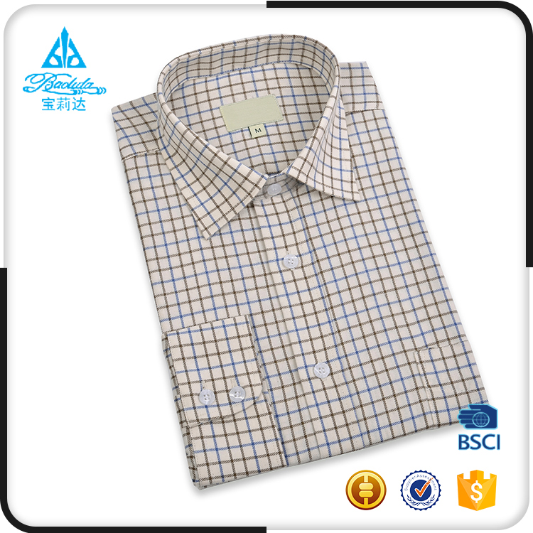 Wholesale custom plus size tailored plaid flannel mens shirts