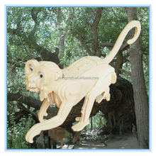 2015 new toys for kid and adults monkey 3d model wholesale animal wood jigsaw puzzles