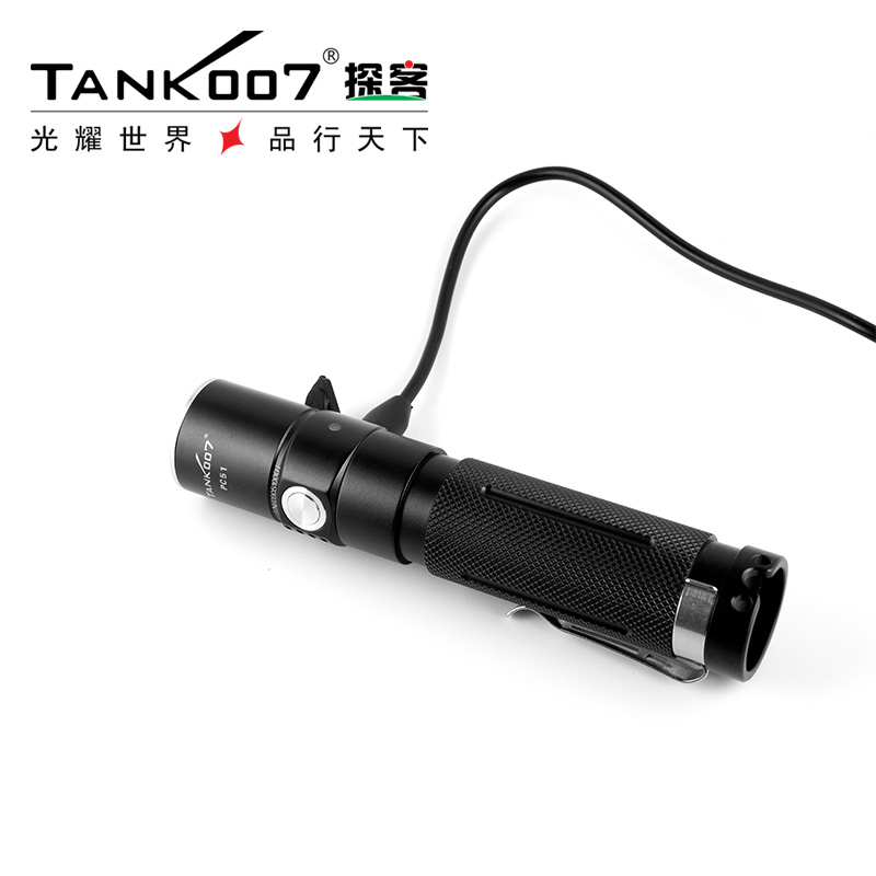 Rechargeable high lumen tactical flashlight police torch light hiking camping flashlight