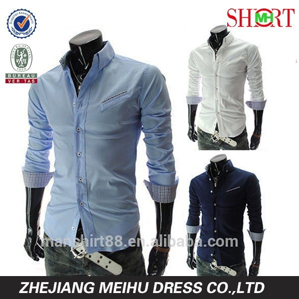 Slim Fit Long Sleeve Casual Shirts Business Formal Tops shirt
