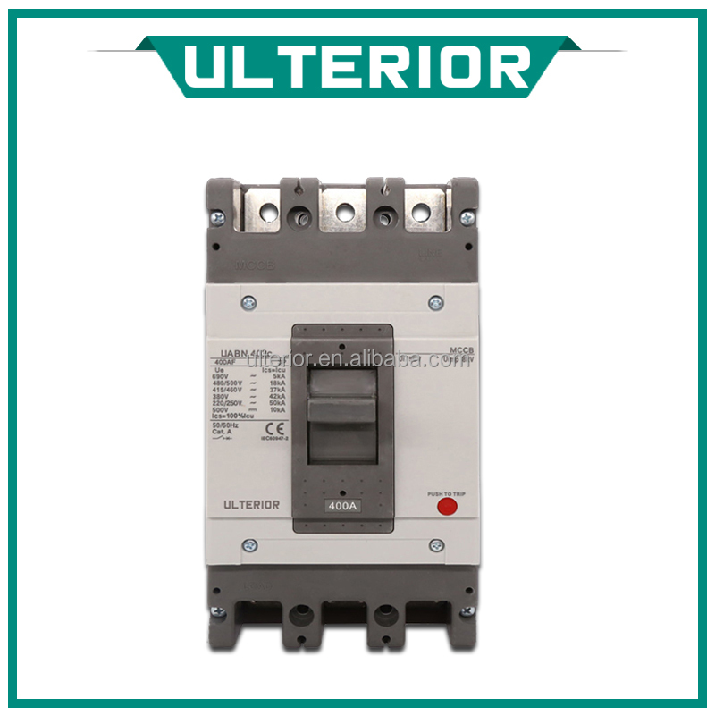 ULTERIOR Cheap price MCCB Moulded Case Circuit Breaker Plastic Case