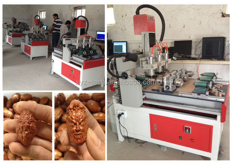 Popular Overseas !!! XJ6090 olive nuclear CNC engraving carving machine with low price 600*900*90mm