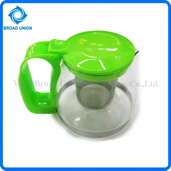 Heat-resistant Glass Small Glass Teapot with Stainless Steel Strainer