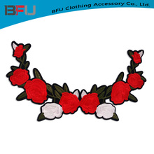 wholesale good quality embroidery patches neckline designs