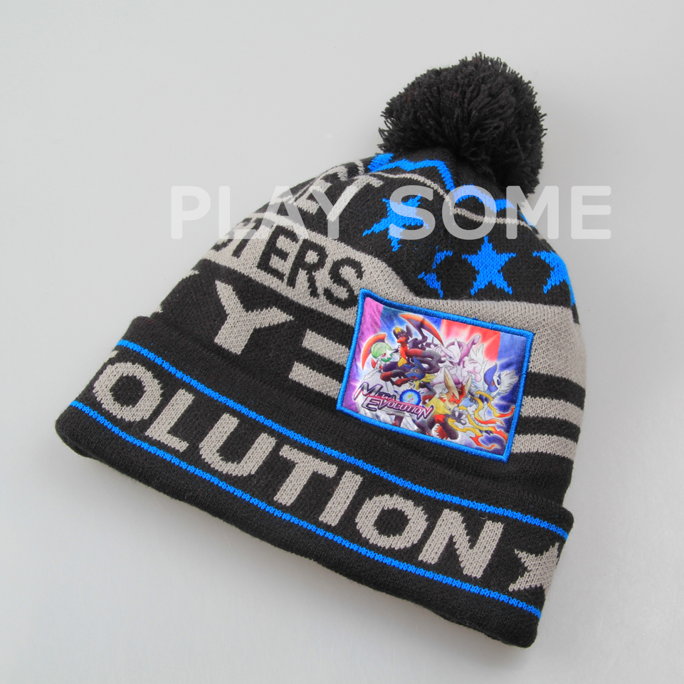 Young boy favourite cool blue winter knitted hats