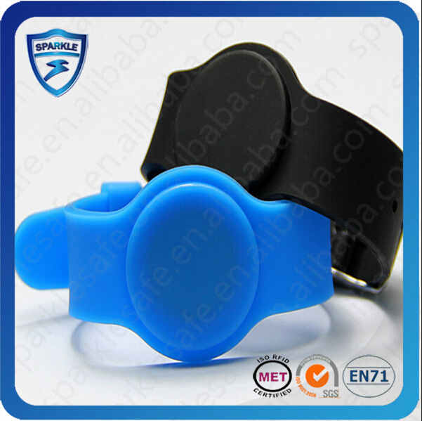 most popular adjustable waterproof silicone wrist band rfid