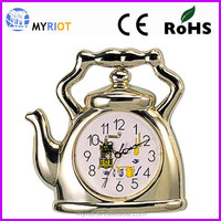 Plastic wall mounted kitchen gift teapot wall clock