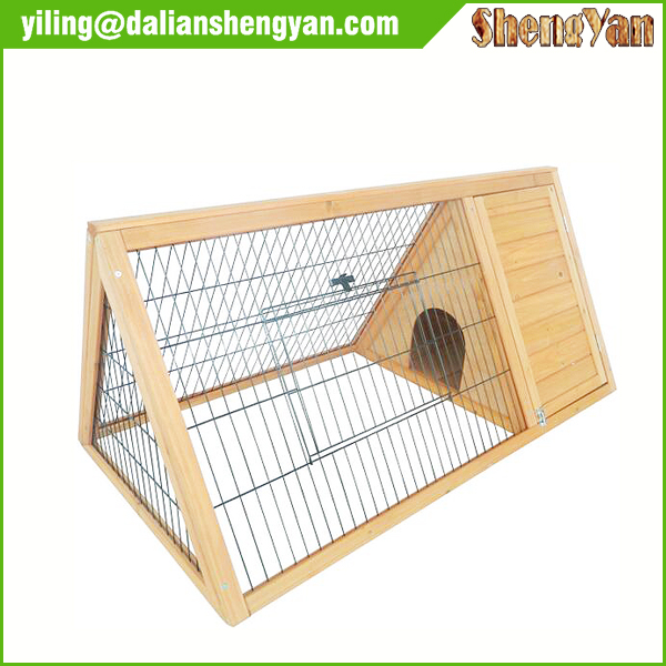 Handmade wooden flat pack rabbit hutch for sale