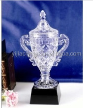 2015 Wholesale newest exalted custom crystal trophy award for Sports events