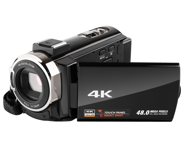 Câmera de vídeo 4K Ultra HD Câmera Digital WiFi 48.0MP 16X Tela Sensível Ao Toque de 3.0 polegadas de Visão Noturna ZOOM Digital HDV-514KM - ANKUX Tech Co., Ltd